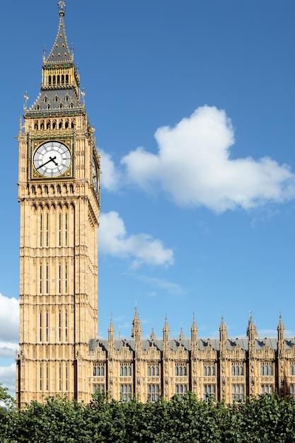Big ben widok z parliament square Premium Zdjęcia