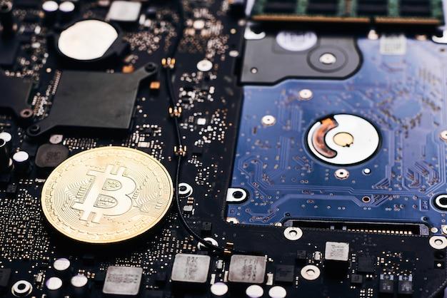 Bitcoin na procesorze Premium Zdjęcia