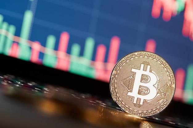 Bitcoiny i nowa koncepcja wirtualnych pieniędzy Premium Zdjęcia