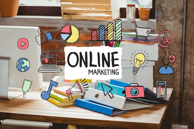 Biura biurko z marketingu online koncepcji biznesowej Darmowe Zdjęcia