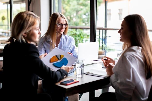 Biznesowe kobiety spotyka w pracy Darmowe Zdjęcia