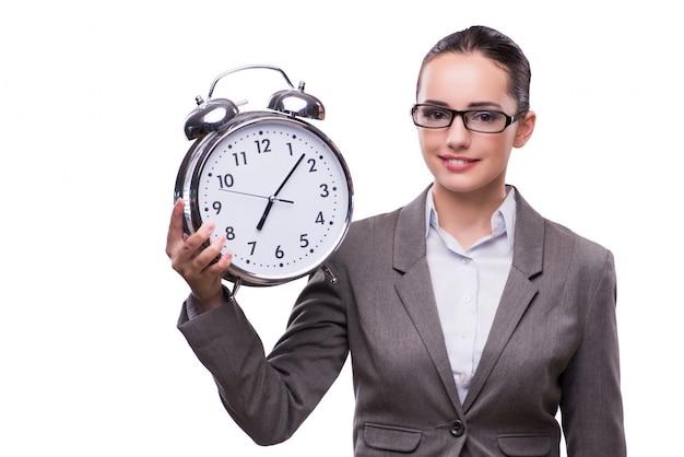 Bizneswoman Z Zegarem W Biznesowym Pojęciu Premium Zdjęcia