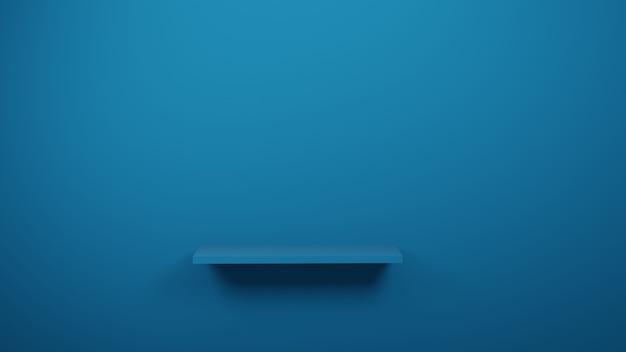 Błękita Stół W Studiu Lub Sala Wystawowej Dla Teraźniejszego Produktu, 3d Rendering Premium Zdjęcia