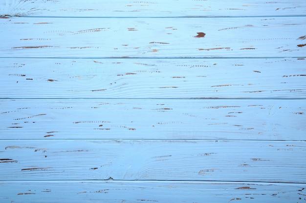 Błękitna drewniana tła lub drewna tekstura, drewniana deska Premium Zdjęcia