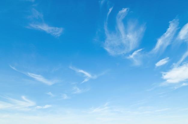 Błękitne Niebo Z Białą Chmurą Natura Krajobraz Premium Zdjęcia