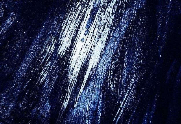 Błękitny ciemny i biały muśnięcia uderzenia tekstury abstrakta tło. Premium Zdjęcia