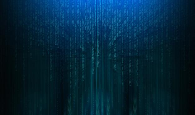 Błękitny Cyber Obwodu Technologii Pojęcia Przyszłościowy Tło Premium Zdjęcia