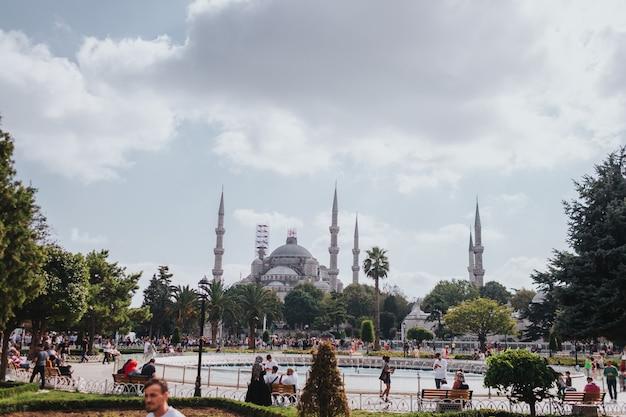 Błękitny Meczet, Eksploruj Turcję, Odwiedź Koncepcję Stambułu Premium Zdjęcia