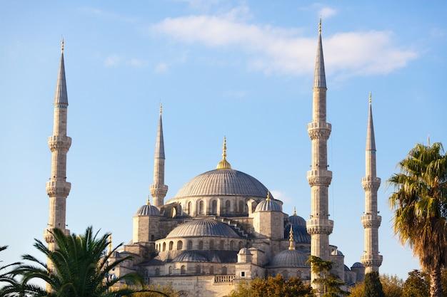 Błękitny Meczet W Istanbuł Na Słonecznym Dniu Premium Zdjęcia