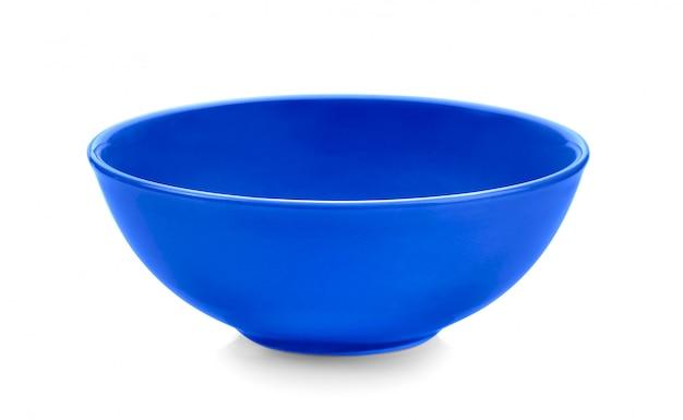 Błękitny Puchar Na Biel Przestrzeni Premium Zdjęcia