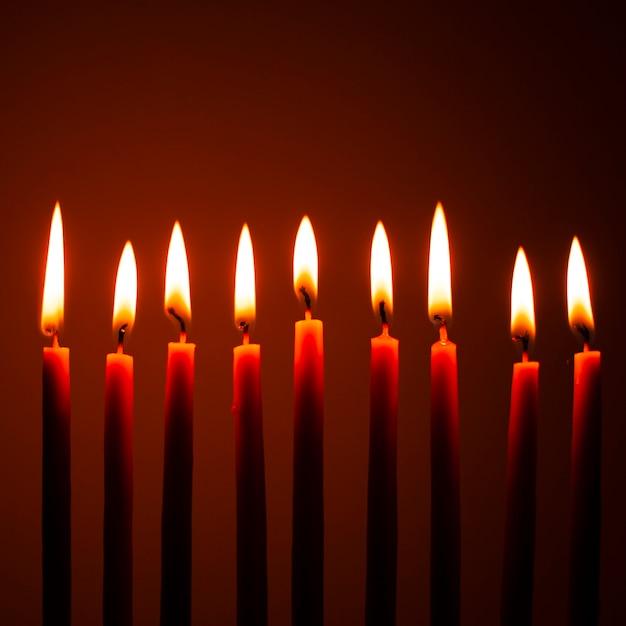 Bliska Palenie świec Chanuka Darmowe Zdjęcia