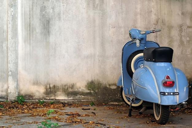 Blue Retro Scooter Premium Zdjęcia
