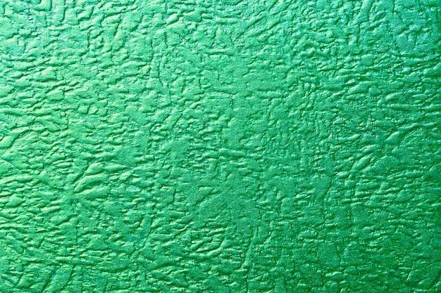 Błyszcząca Zielona Metaliczna Tekstura Folii Premium Zdjęcia