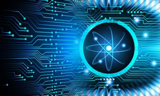 Błyszczący schemat atomu Premium Zdjęcia