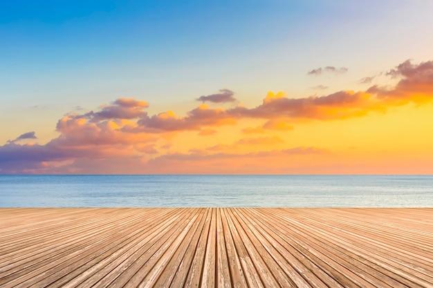 Boardwalk skały skyline horyzont latem tle Darmowe Zdjęcia
