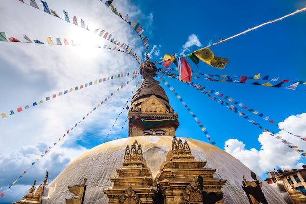 Bodhnath Stupa W Dolinie Kathmandu, Nepal Premium Zdjęcia