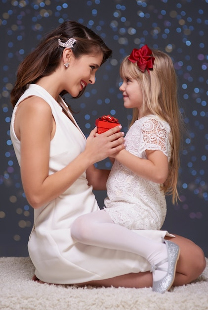 Boże Narodzenie Czas Matki I Córki Darmowe Zdjęcia