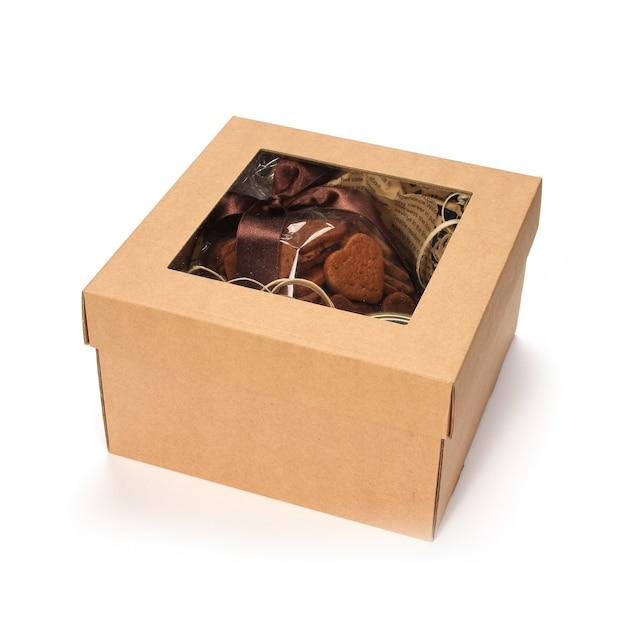 Boże Narodzenie Pudełko Na Białym Tle Darmowe Zdjęcia