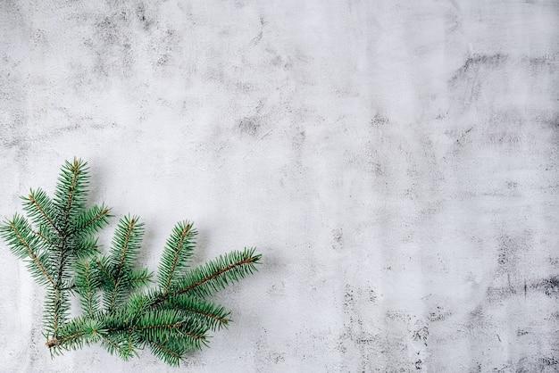 Boże Narodzenie Skład Na Szarym Tle Premium Zdjęcia