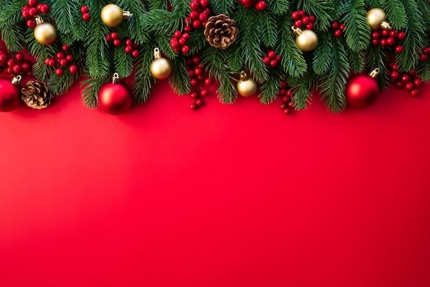 Boże narodzenie świerkowe gałęzie Premium Zdjęcia