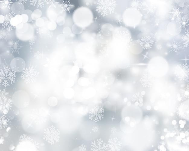 Boże Narodzenie Tło Płatki śniegu I Gwiazd Darmowe Zdjęcia
