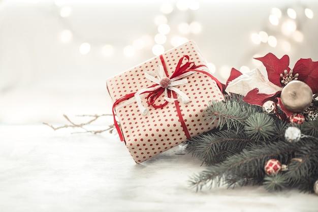 Boże Narodzenie Tło Wakacje Z Prezentem W Pudełku. Darmowe Zdjęcia