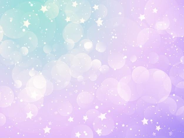 Boże Narodzenie Tło Z Pastelowych świateł Bokeh I Projektowania Gwiazd Darmowe Zdjęcia