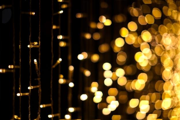 Bożonarodzeniowe światła Bokeh Tło Premium Zdjęcia