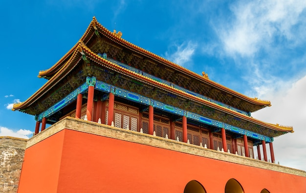 Brama Boskiej Mocy, Północna Brama Zakazanego Miasta W Pekinie - Chiny Premium Zdjęcia