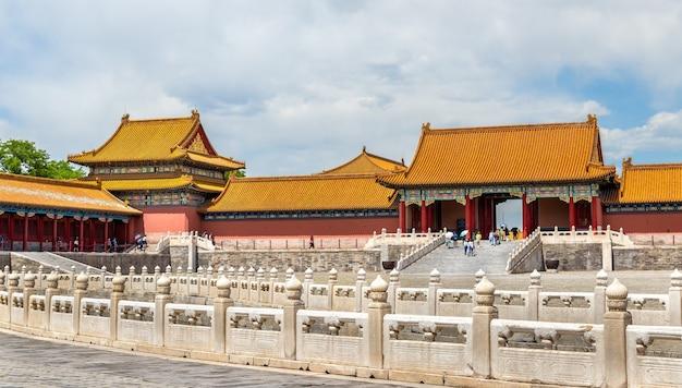 Brama Najwyższej Harmonii W Zakazanym Mieście W Pekinie - Chiny Premium Zdjęcia