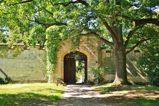 Brama Starego średniowiecznego Zamku Premium Zdjęcia