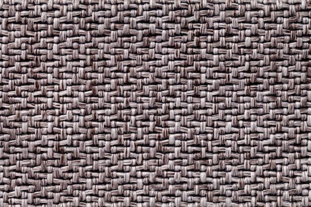 Brązowa Tkanina Vintage Z Tkaną Teksturą Makro Tekstylne Tło, Premium Zdjęcia