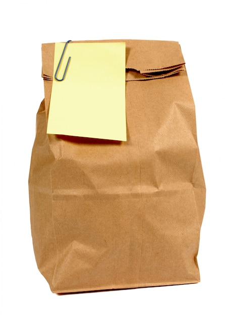 Brązowa Torba Z Papieru żółty Po To Styl Karteczkę Darmowe Zdjęcia