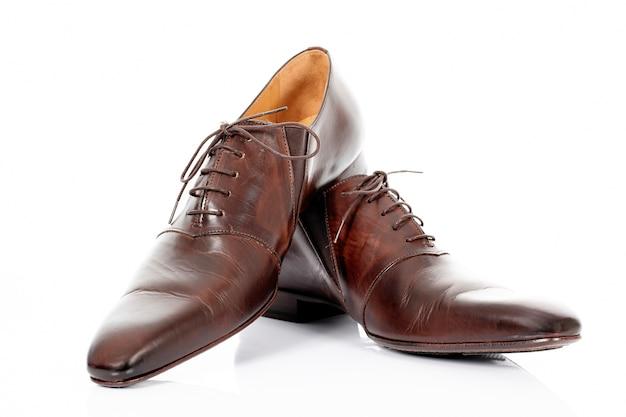 Brązowe Buty Na Białym Tle Na Białym Tle Darmowe Zdjęcia