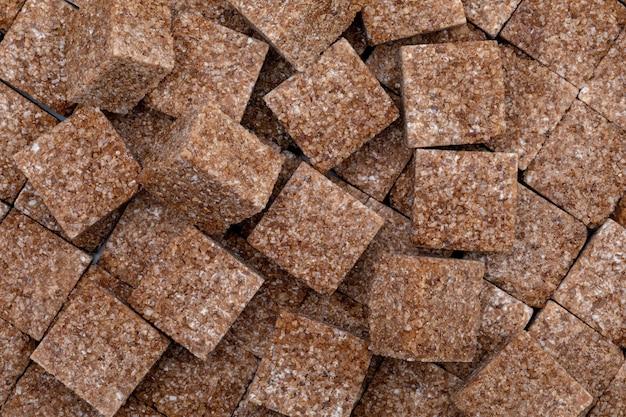 Brązowe Kostki Cukru. Premium Zdjęcia