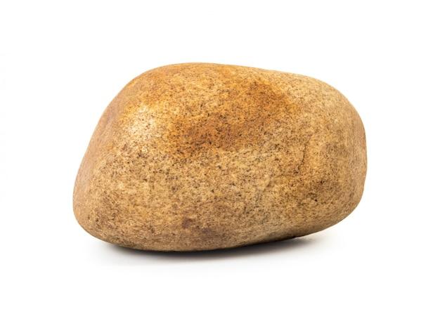 Brązowy kamień na białym tle. Premium Zdjęcia