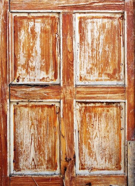 Brown Tekstura Stary Drzwi Premium Zdjęcia