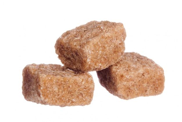 Brown Trzciny Cukieru Sześciany Odizolowywający Premium Zdjęcia