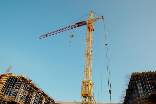 Budowa Dźwigu I Konstrukcja. Premium Zdjęcia