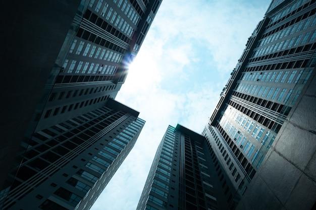 Budowanie Wieżowca Od Dołu W Hongkongu Premium Zdjęcia