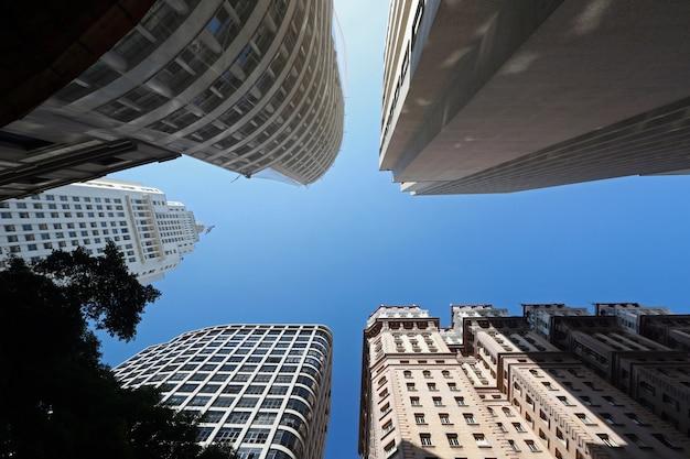 Budynek banespa i budynek martinelli, w sao paulo Premium Zdjęcia