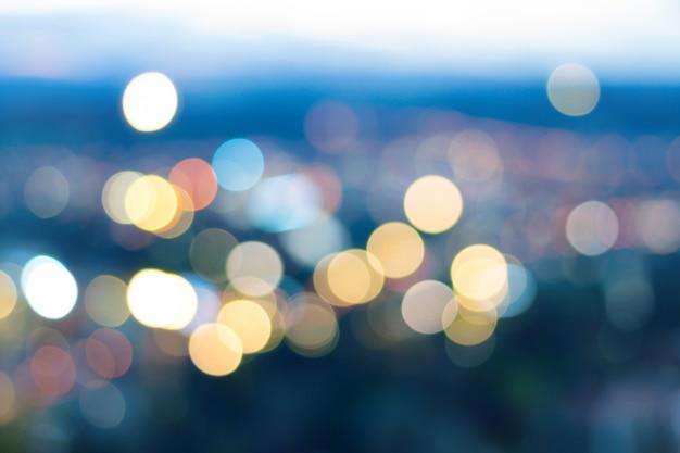 Budynek Kolorowy Bokeh światła Abstrakta Tło Premium Zdjęcia