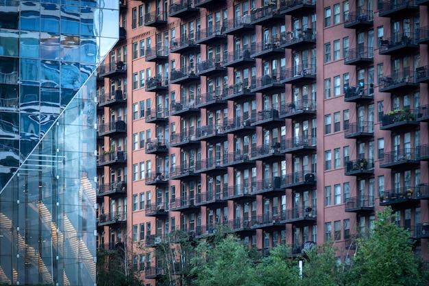 Budynki Chicago W Mieście Premium Zdjęcia