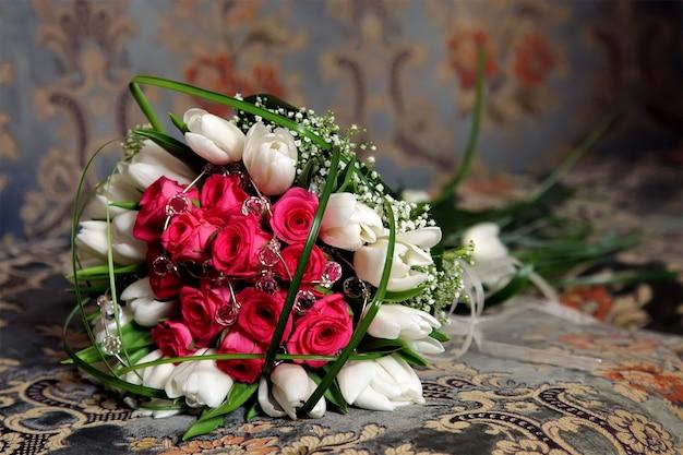 Bukiet Kwiatów Panny Młodej Premium Zdjęcia