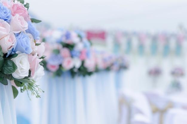 Bukiet róż na weselu Premium Zdjęcia