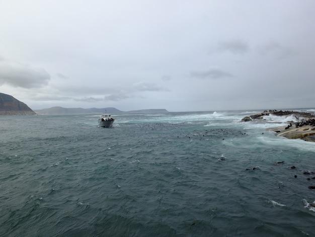 Burza Na Oceanie Atlantyckim, Republika Południowej Afryki Premium Zdjęcia