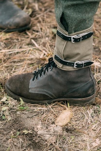 But żołnierza Niemieckiego żołnierza Premium Zdjęcia