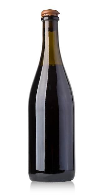 Butelka Wina Na Białym Tle Premium Zdjęcia