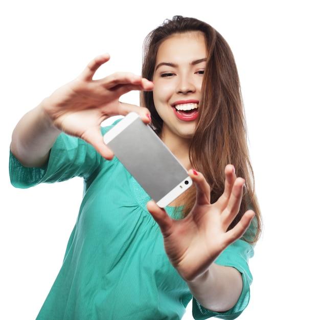 Całkiem Teen Girl Selfie Premium Zdjęcia