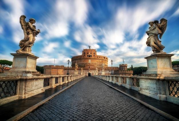 Castel Sant Angelo W Rzymie, Włochy Premium Zdjęcia